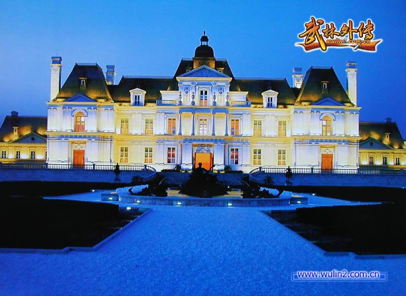 蓝色欧式城堡主题婚礼