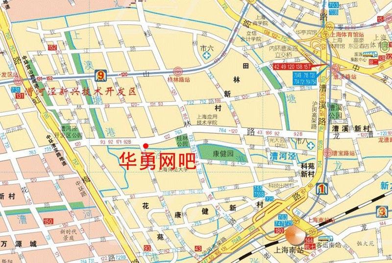 附:网吧赛场位置电子地图
