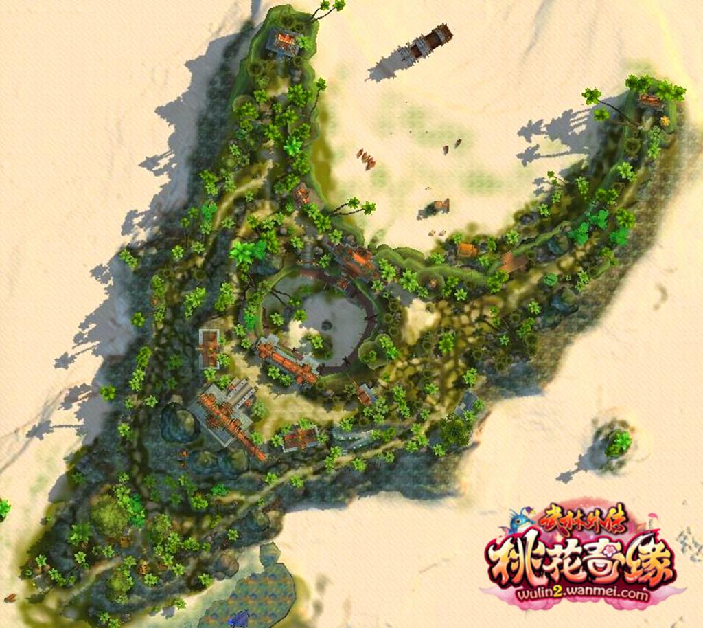海岛平面图设计囹图
